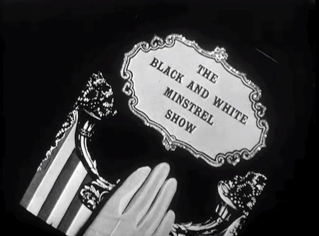A poster for a Black & White Minstrel Show